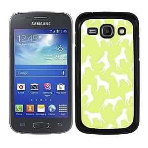 Funda carcasa para Samsung Galaxy Ace 3 estampado perro perros boxer fondo verde lima borde negro