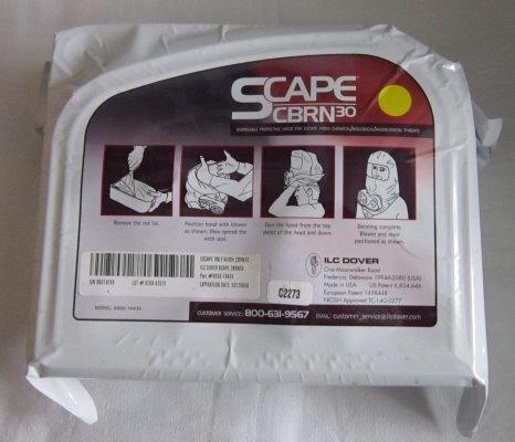 SCape CBRN30 Powered Respirator Escape Hood - Scba Safety
