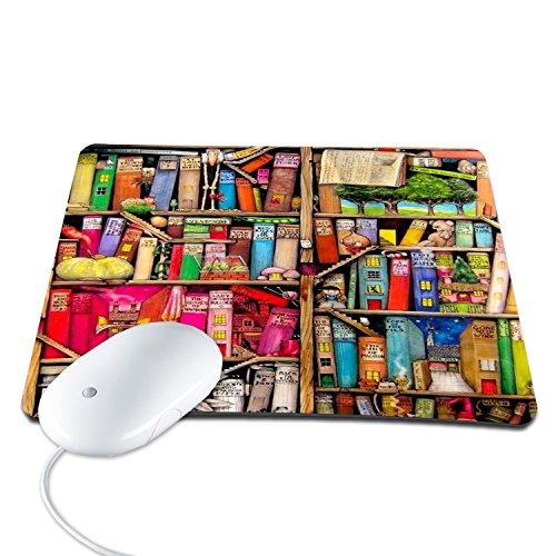 Elonbo 8.6 x 7 inches / 220 x 180 mm Cute Mini Shelf Design Waterproof Neoprene Soft Mouse Pad