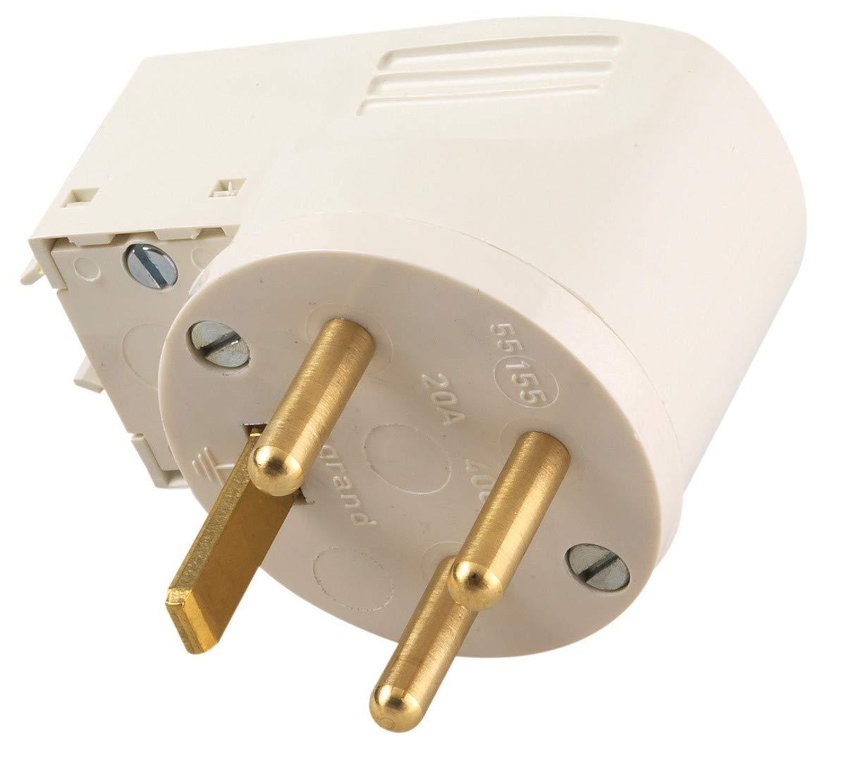Legrand LEG55012 Fiche /à anneau 20 A 3p+t IP44-ik08 poign/ée avec sortie lat/érale