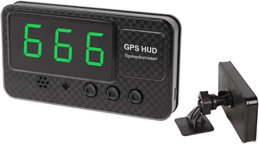 TOOGOO Cuentakilómetros Velocímetro Visualización Head-Up GPS Universal Alarma de Exceso de Coche Reloj del Coche para Todos Los Vehículos C60 / C60S / C80 / C90 (C60S)
