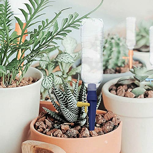 Pinkpaopao 6 PCS Plant Self Watering Adjustable Stakes System Automatic Plant Self Watering Spikes Irrigation System with Control Tap Switch(3 Mix)