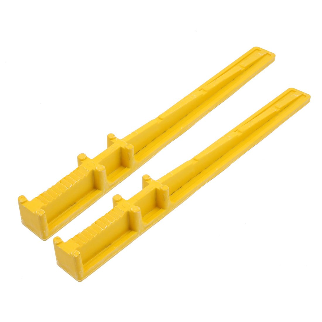 uxcell 2 Pcs High Strength FRP Cable Bracket 500mm Long Embedded Type Yellow