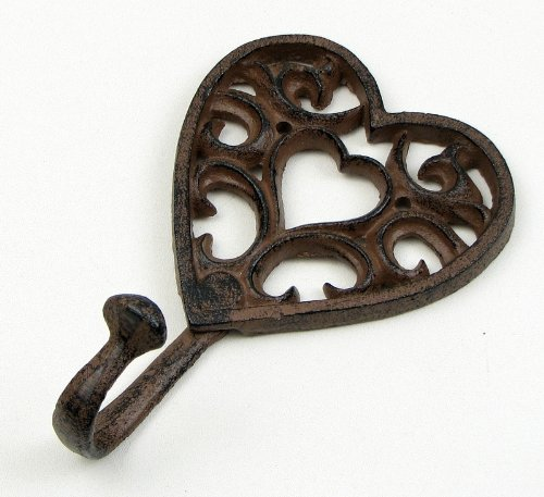 Cast Iron Heart Shaped Wall Hook