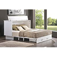 SDS Cottage White Cabinet Bed