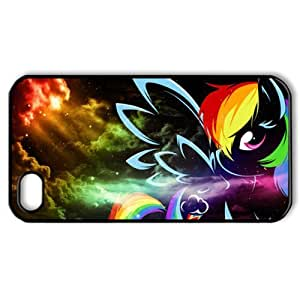CTSLR Cartoon & Anime Series Protective Snap-on Hard Back Case Cover for iPhone 4 & 4S - 1 Pack - My Little Pony & Rainbow Dash - 6