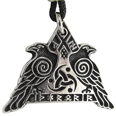 Valknut raven warrior pendant valkyrie odins huginn and muninn crow valknut raven warrior pendant valkyrie odins huginn and muninn crow jewelry amazon aloadofball Gallery