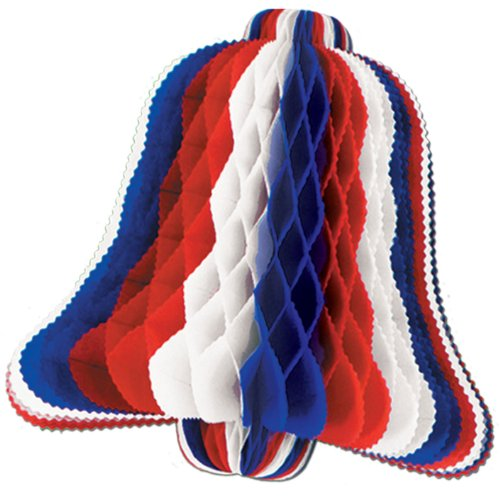 Patriotic Tissue Bell (red, white, blue) Party Accessory  (1 count)