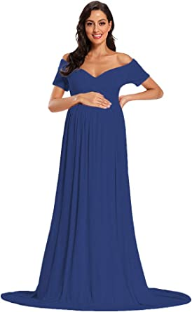 Short Sleeve Maternity Gown Sweetheart Maternity Dress Sheer Maternity Gown For Photo Shoot Baby Shower At Amazon Women S Clothing Store