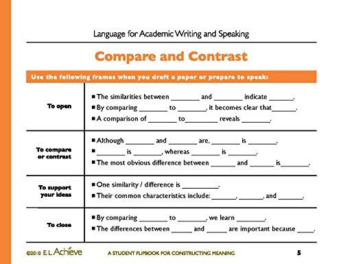 Amazon.com : E.L. Achieve Student Flipbook: Language for Academic ...