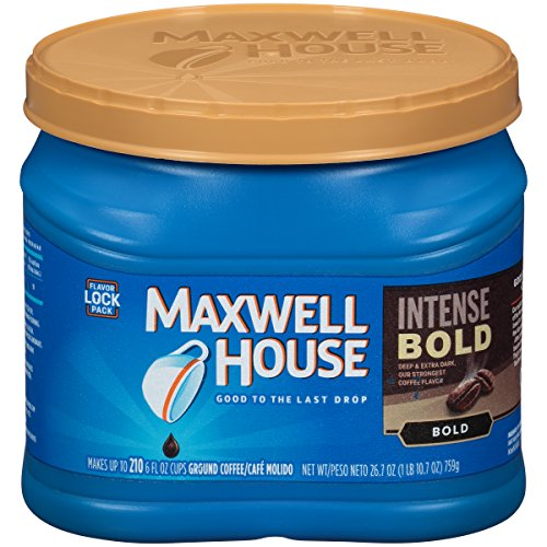 Maxwell House Intense Bold Roast Ground Coffee (26.7 oz Canister)