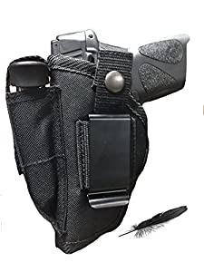 Feather Lite Fits Taurus PT-957, PT-940, PT-908 and G2C Soft Nylon Inside or Outside The Pants Gun Holster.