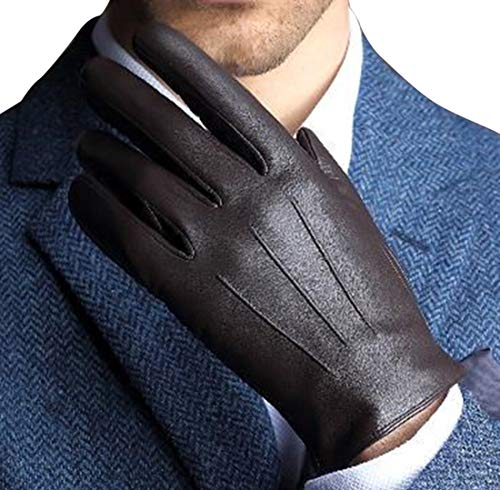 Harrms Best Touchscreen Nappa Genuine Leather Gloves for men's Texting Driving Glove (2XL-9.8