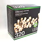 Led Lichterkette 320 Leds warmweiß für innen und außen Strombetrieb