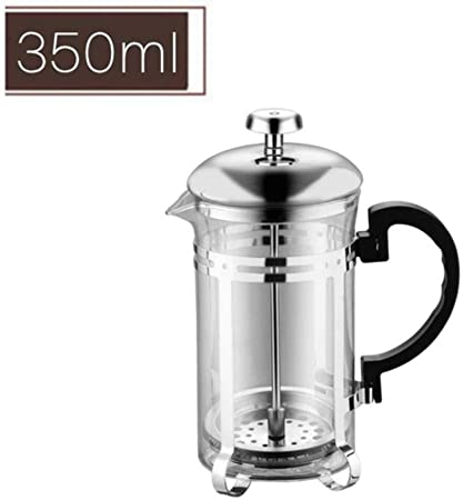 HUANGSAN 350/600 / 1000ml Tetera de cafetera Manual Tetera de presión Francesa cafetera de colador Herramienta de percolación Taza de Filtro de té, 350ml: Amazon.es: Hogar