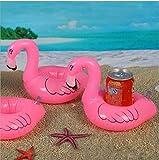 CC*CD Creative Flamingo inflable flotante juguetes piscina para bebidas Pack de 3 piezas (rosa)