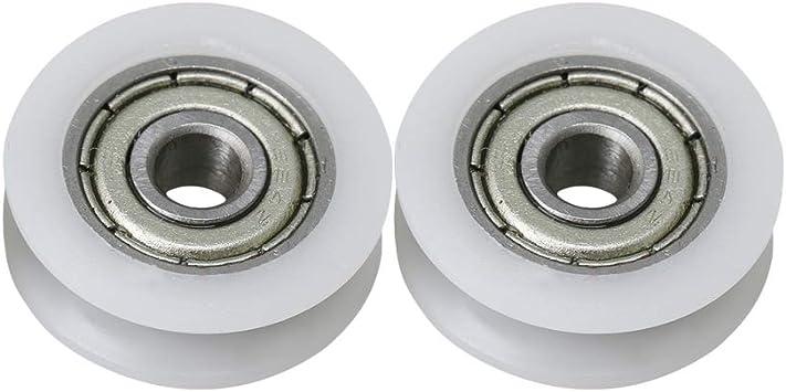 BQLZR - Rodamientos de acero sellados para puertas correderas y ventanas, 18 mm de diámetro, 6 mm de ancho, 27 kg, 2 unidades: Amazon.es: Bricolaje y herramientas