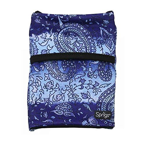Sprigs Banjees 2 Pocket Wrist Wallet - Purple Paisley, One Size Fits Most by Sprigs