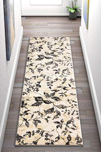 Well Woven Ilford Ivory Floral Vintage Natural Modern Casual 2×7 2 3 x 7 3 Runner Area Rug Thick Soft Plush Shed Free