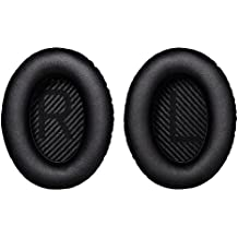 Bingle Ear Cushions Replacement Ear Pads for Bose Headphones Quiet Comfort 35 (QC35) and QuietComfort 35 II (QC35 II) headphones with Memory Foam Protein Leather (1Pair Black)