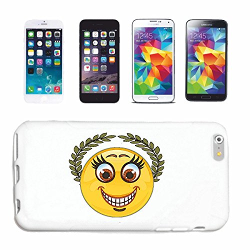 "cas de téléphone iPhone 6+ Plus ""SMILEY AS CHAMPION AVEC HONOR KRANZ ""sourire EMOTICON APP de SMILEYS SMILIES ANDROID IPHONE EMOTICONS IOS"" Hard Case Cover Téléphone Covers Smart Cover pour Apple iPho"