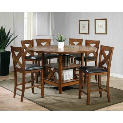 Hand Crafted 7 Piece Counter Height Dining Set Lodge,Ultimate Accents - Set 1 Pack of (7)