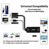 VGA to HDMI, Benfei VGA to HDMI Adapter with