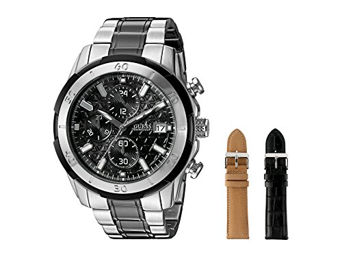 GUESS Men's U0812G1 Chronograph Watch Wardrobe Set with with Accessory Box