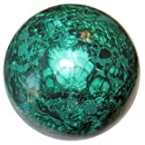 Malachite Ball 56 Genuine African Crystal Healing Sphere Gazing Meditation Congo Stone 3.4''