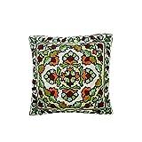 Mogul Decorative Pillow Cover Bold Embroidered Multi Colour Sofa Cushion Cover Pillow Case