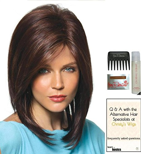 JACKSON by Noriko Wig, 15 Page Christy's Wigs Q & A Booklet, Wig Shampoo, Wig Cap & Wide Tooth Comb - Color: CREAMY TOFFEE-R by Norkio & Christy's Wigs