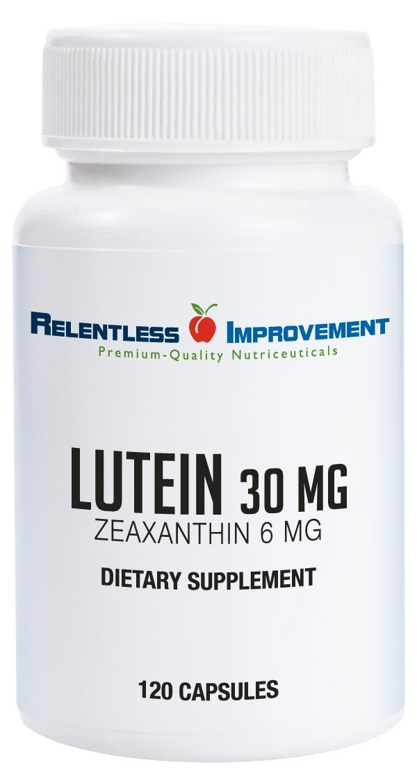 Relentless Improvement Lutein Zeaxanthin Natural Source No Fillers 100% Pure Active Material by Relentless Improvement