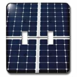 3dRose Alexis Photography - Objects - Dark blue solar power panel divided into four parts by white frames - Light Switch Covers - double toggle switch (lsp_271345_2)
