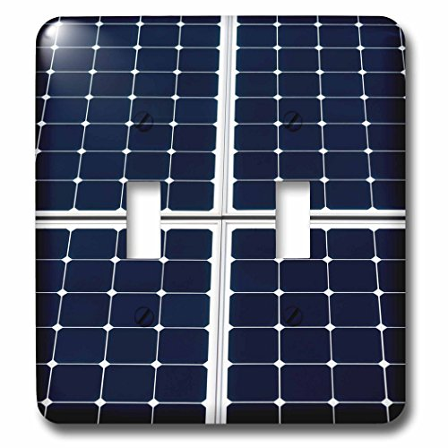 3dRose Alexis Photography - Objects - Dark blue solar power panel divided into four parts by white frames - Light Switch Covers - double toggle switch (lsp_271345_2) by 3dRose