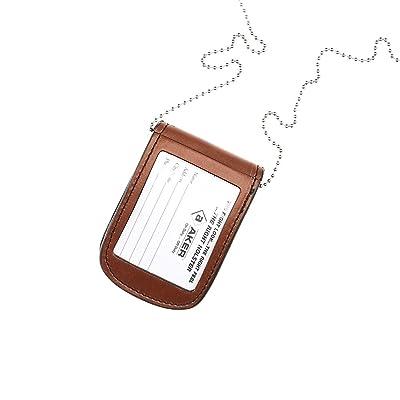 Aker Leather A599-BP Necklace Star Badge Holder Black