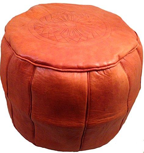 Marokkanisches Ledersitzkissen Orange