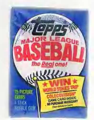 Lot of 3 1983 Topps Baseball Wax Packs (45 Cards Total) Possible Sandberg, Boggs, Gwynn Rookie Cards