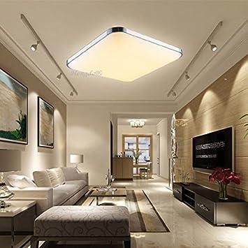 HengdaR 12W LED Deckenleuchte Modern Deckenlampe 2700K 3200K Warmweiss Flur Wohnzimmer Lampe Schlafzimmer 85V