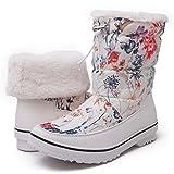 GW Women's 1720 White Floral Snow Boots 10 M US