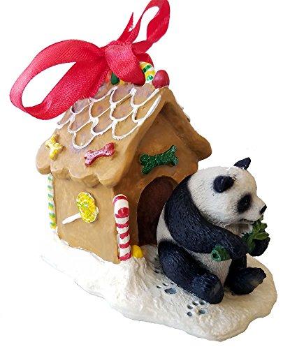 Panda Bear Gingerbread House Christmas Ornament