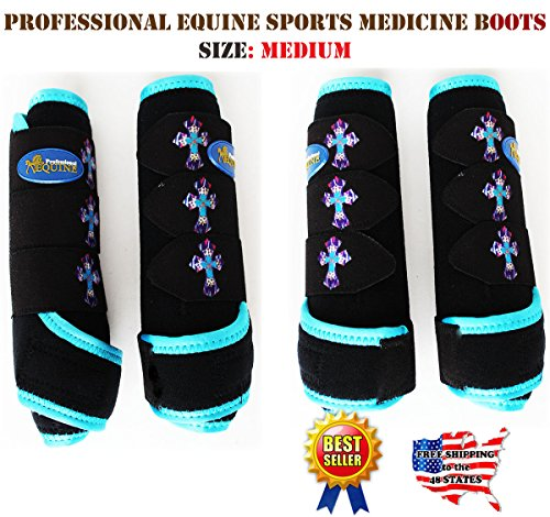 Stable Boots Horse (Professional Equine Horse Medium 4-Pack Sports Medicine Splint Boots 4152C)