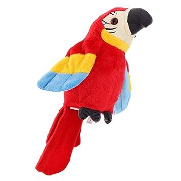Homyl Juguete Loro Hablando Peluche Animal Forma Regalo para Niños - Rojo: Amazon.es: Juguetes y juegos