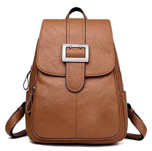 multifonctionnel 26 cuir sac PU décontracté dos 14 34cm souple de Sac sac main à femmes à de en mode vxqwaB8