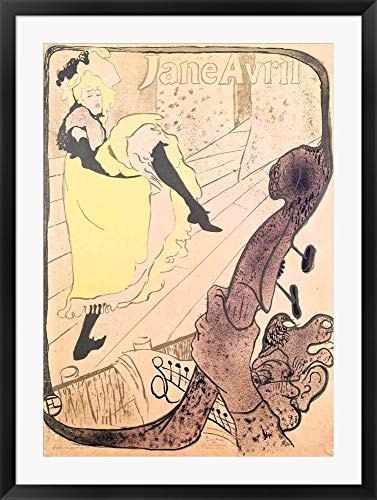 - Poster Advertising Jane Avril by Henri de Toulouse-Lautrec Framed Art Print Wall Picture, Black Frame, 30 x 40 inches
