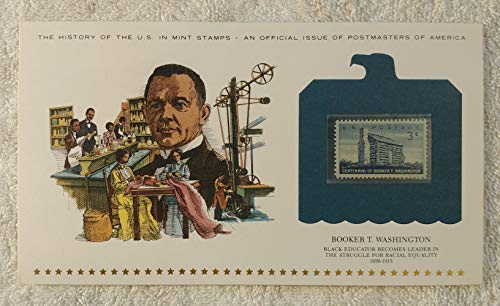 Booker T. Washington - Black Educator Becomes Leader in the Struggle for Racial Equality - Postage Stamp (1956) & Art Panel - History of the United States: an official issue of Postmasters of America - Limited Edition, 1979