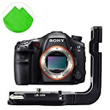 First2savvv LLX-A99-01 Arca Swiss Standard Quick Release L Plate Bracket Holder Hand Grip for SONY A99 SONY Alpha 99 + cleaning cloth