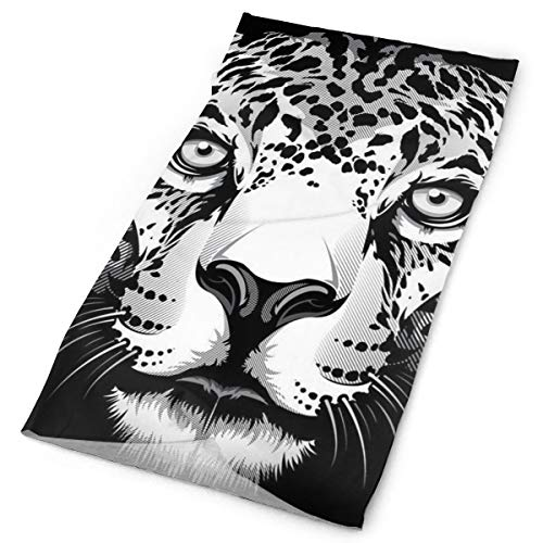 Head Scarf, Head Cover, Face Mask, Cap Hat for Bike Motorcycle Fishing Basketball, Multipurpose/Moisuture-Wicking Headwear, Cool Cheetah Leopard Black -