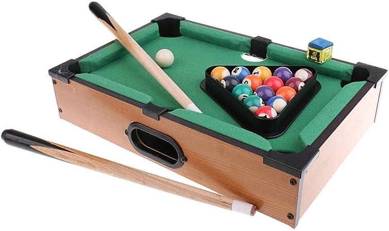 COMPY Toy Kid Gift Juego de Deportes Mini Bola de Billar Mesa de Juego de Mesa Snooker Tabletop Pool Table Juego de Escritorio de Juego: Amazon.es: Hogar