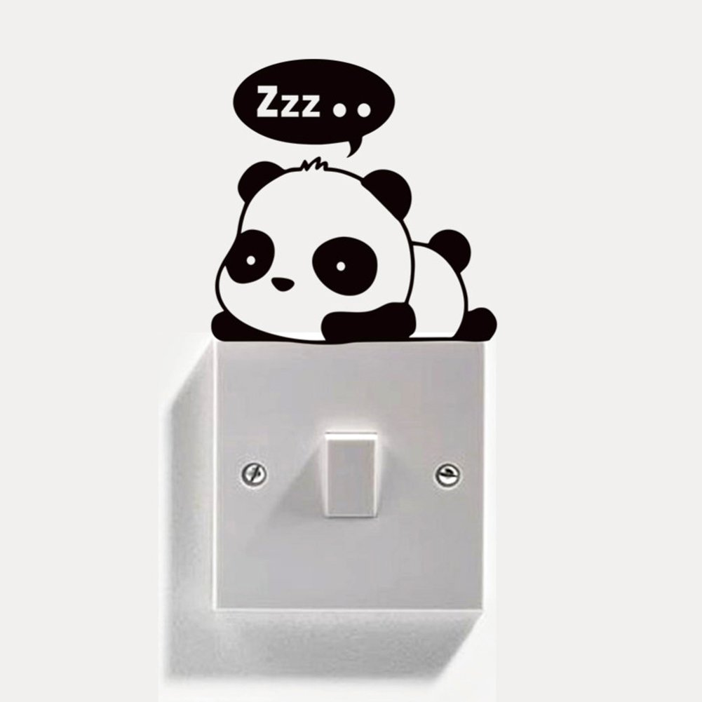 Cat Dog Welcome Wall Stickers Removable Switch Socket Decal Home Fashion Decor
