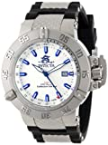 Invicta Men's 13920 Subaqua Noma III GMT Silver Dial Black Polyurethane Watch